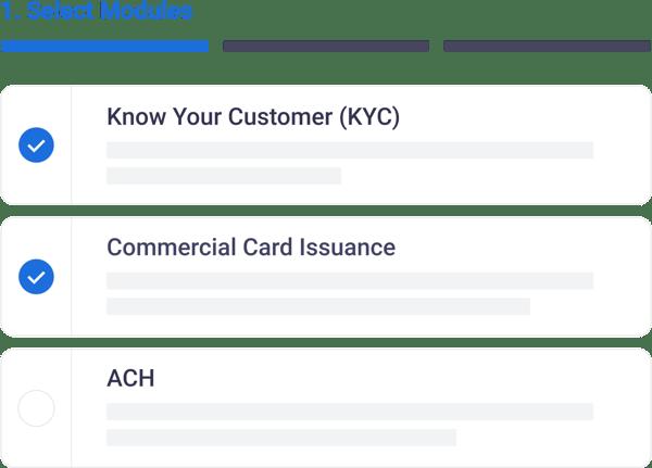 Productfy fintech app module configuration
